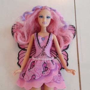 Possibly Magic Barbie Pink Fairy Butterfly Doll***